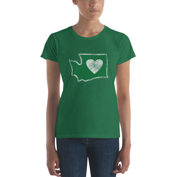 T-Shirt | Heart in Washington | Ladies - The Heart Sticker Company
