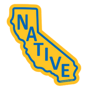 Heart in California - Native Sticker - The Heart Sticker Company