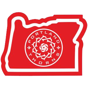 Sticker | Portland Thorns in Oregon - The Heart Sticker Company