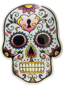 Sugar Skull Reflective Vinyl Sticker - High Quality - The Heart Sticker Company