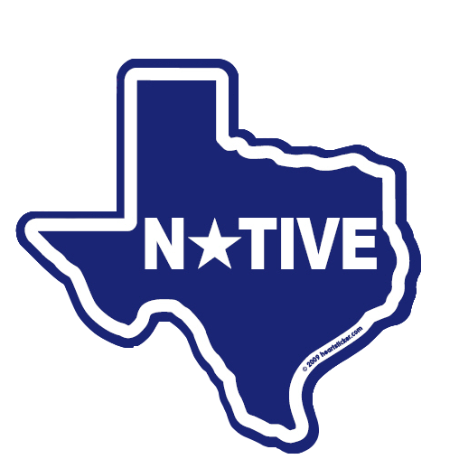 Texas - Heart in Texas - Native Sticker - The Heart Sticker Company