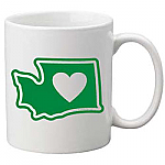 Washington - Heart in Washington Coffee Mug - The Heart Sticker Company