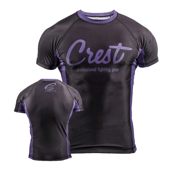 Rash Guard Purple (lyhyt)
