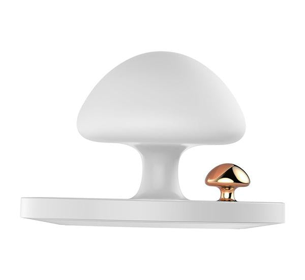 Cargador Inalambrico Lampara Touch Carga Rapida 10 Watts Mushroom Rock