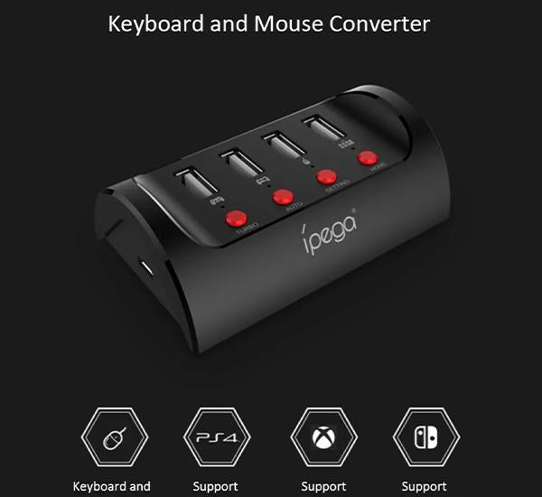 Adaptador Teclado y Mouse PS4 N-Switch Ipega 9133