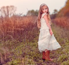Eloise Lace Dress in Ivory