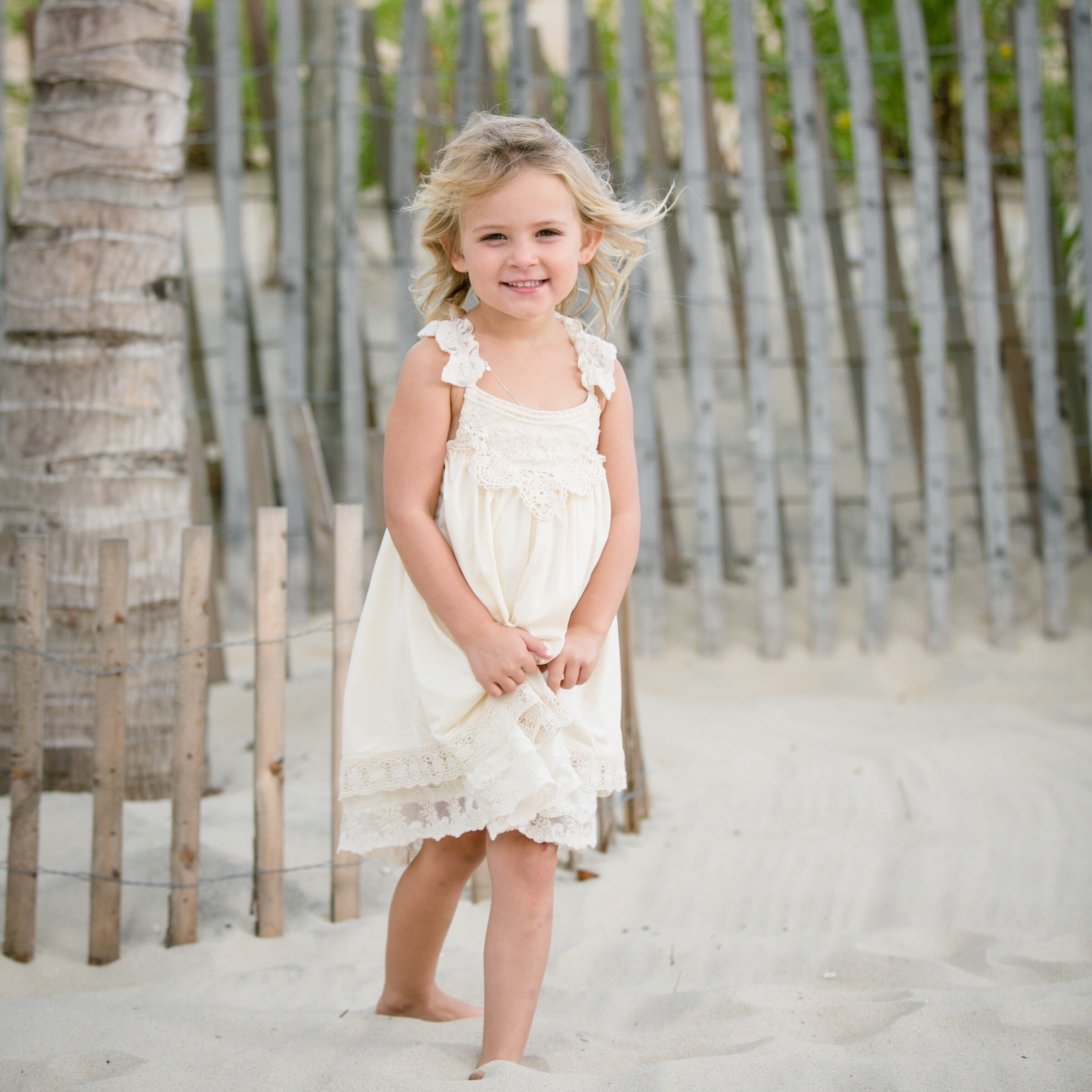 Grace Flower Girl Dress, Ivory
