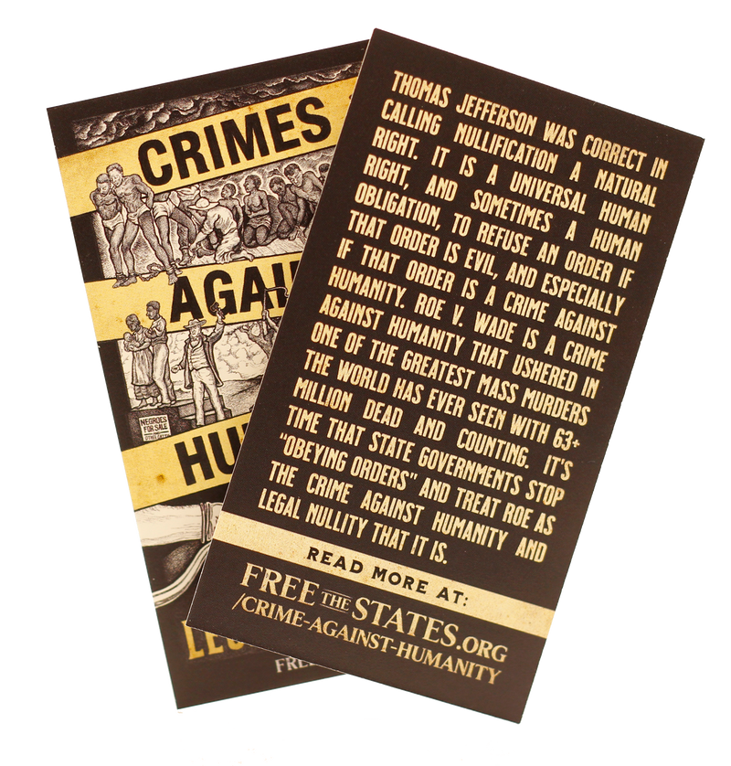 Crimes Against Humanity Dropcard