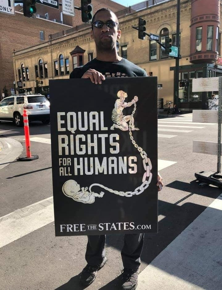 Equal Rights for All Humans Sign