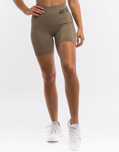 Arise Scrunch Shorts - Taupe