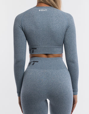 Arise Comfort Cropped Long Sleeve - Blue