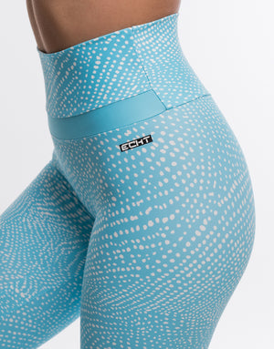 Echt Rhythm Leggings - Topaz Blue