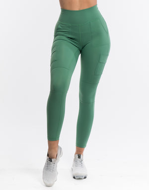 Echt Jagged Leggings - Hedge Green