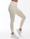 Echt Force Scrunch Leggings - Powder White