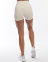 Echt Force Scrunch Shorts - Powder White