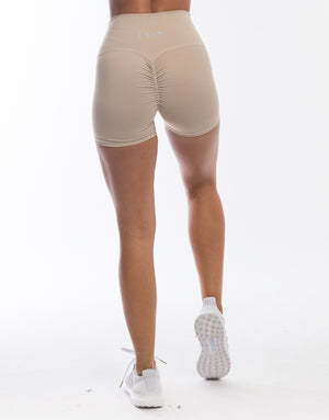 Echt Force Scrunch Shorts - Taupe