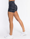 Echt Force Scrunch Shorts - Black Camo