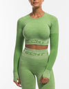 Arise Pure Cropped Long Sleeve - Green Tea