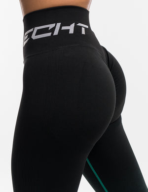 Arise Ombre Scrunch Leggings - Black/Green