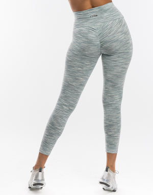 Echt Aperture Scrunch Leggings - Grass Green