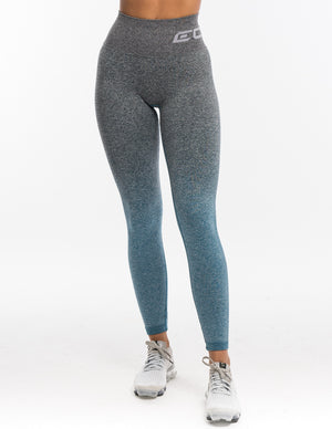 Arise Ombre Scrunch Leggings - Charcoal/Blue