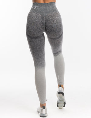 Arise Ombre Scrunch Leggings - Charcoal/Light Grey