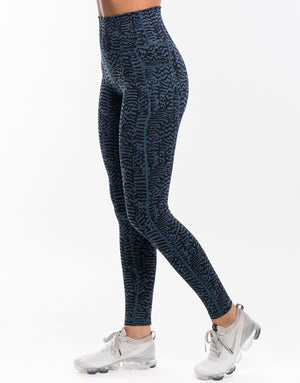 Echt Essentia Pocket Leggings - Blue Zebra
