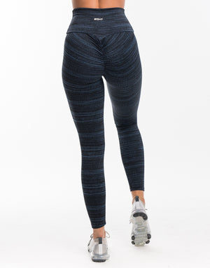 Echt Essentia Scrunch Leggings - Blue Stripe