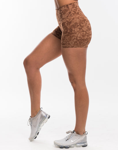 Echt Stealth Scrunch Shorts - Lion Brown
