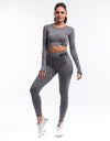 Arise Scrunch Crop Top - Charcoal