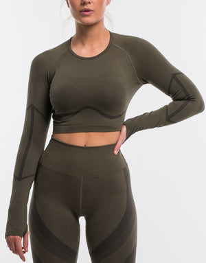 Arise Surge Long Sleeve - Olive