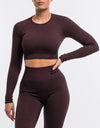 Arise Comfort Cropped Long Sleeve - Berry