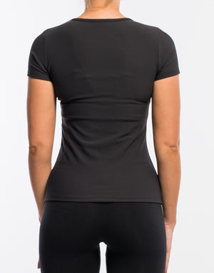 Echt Stretch Short Sleeve - Black