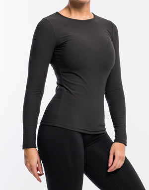 Echt Stretch Long Sleeve - Black