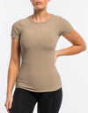 Echt Stretch Short Sleeve - Tan Dune