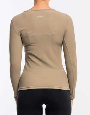 Echt Stretch Long Sleeve - Dune Tan