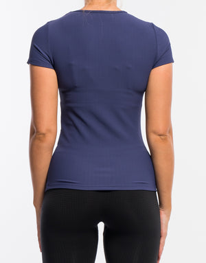 Echt Stretch Short Sleeve - Deep Blue