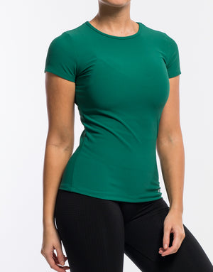 Echt Stretch Short Sleeve - Emerald Green