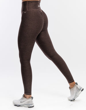 Echt Weave Scrunch Leggings - Clay
