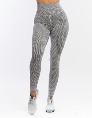 Echt Weave Scrunch Leggings - Grey