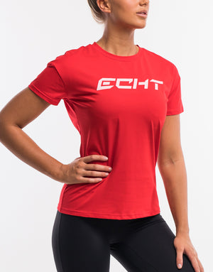 Echt Tempo Tee - Blush Red