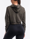 Echt Ladies Tapered Hoodie - Dusty Olive