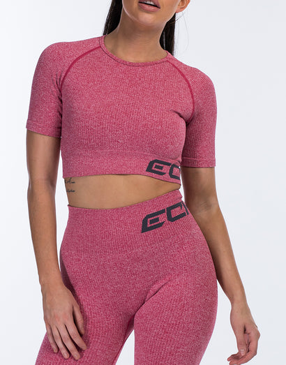 Arise Comfort Crop Top - Pink