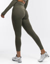 Echt Flex Scrunch Leggings - Olive Stripe