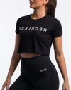 Echt Reckless Cropped Tee - Black