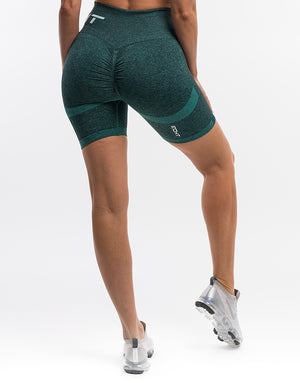 Arise Scrunch Shorts - Aqua Green