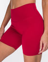 Echt Force Scrunch Bike Shorts - Crimson