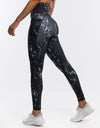 Echt Marble Pocket Leggings - Black