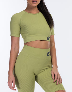 Arise Comfort Crop Top - Lime Green