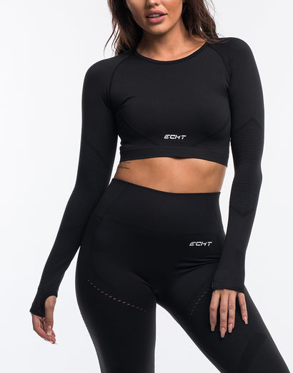 Arise Cropped Long Sleeve V2 - Black